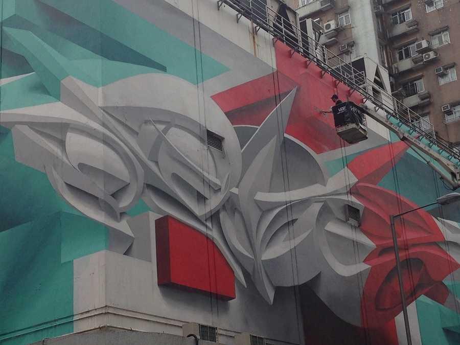 graffiti con efecto de 3D