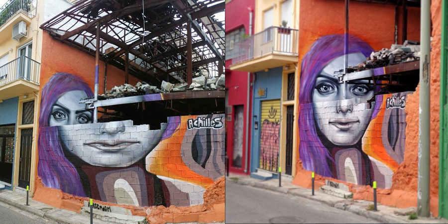 graffiti en capas