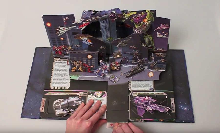 libro pop-up de Transformers