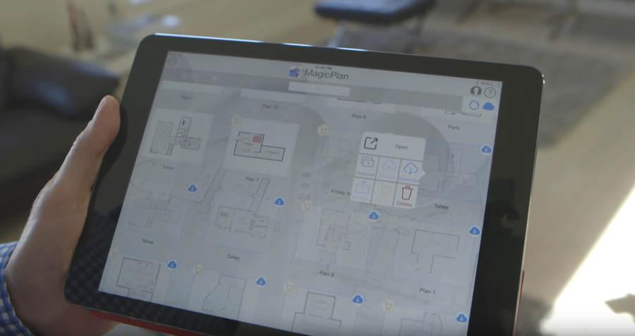 planos arquitectónicos hechos con app