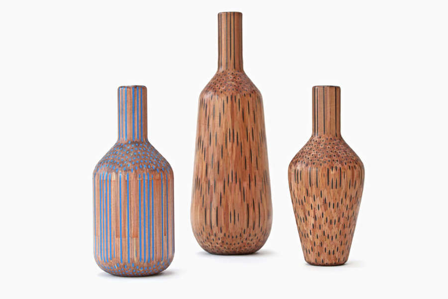vasijas hechas con lápices