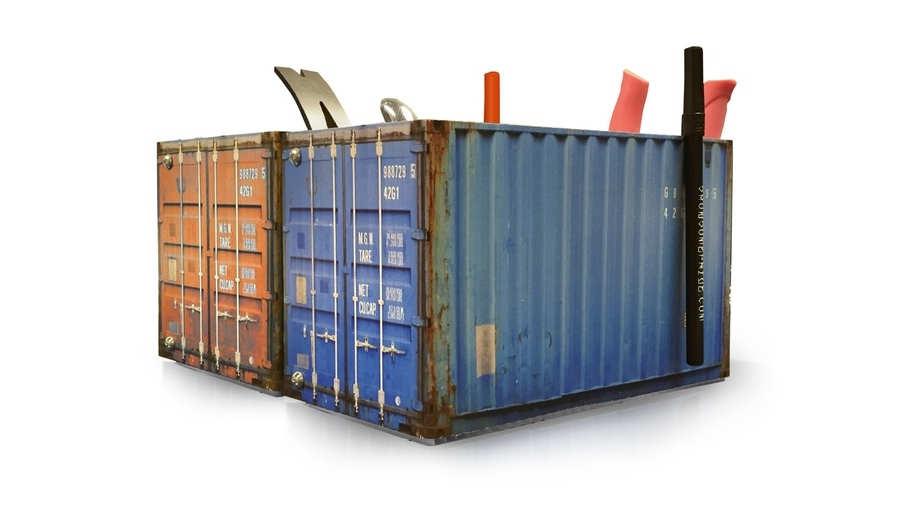 contenedores de carga miniatura