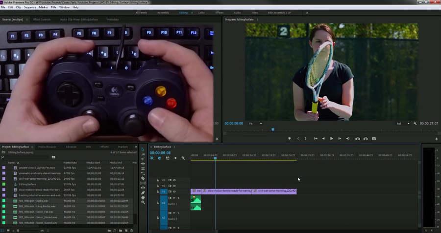 editar video con control de videojuegos