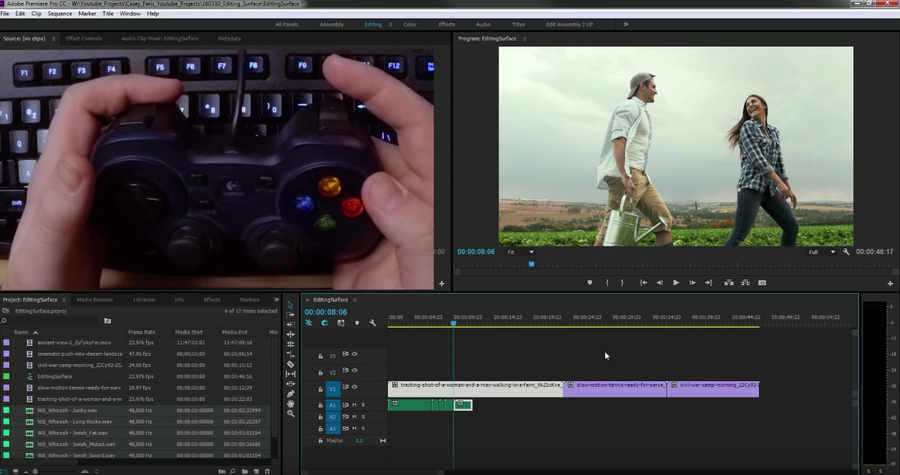 editar video con control de videojuego