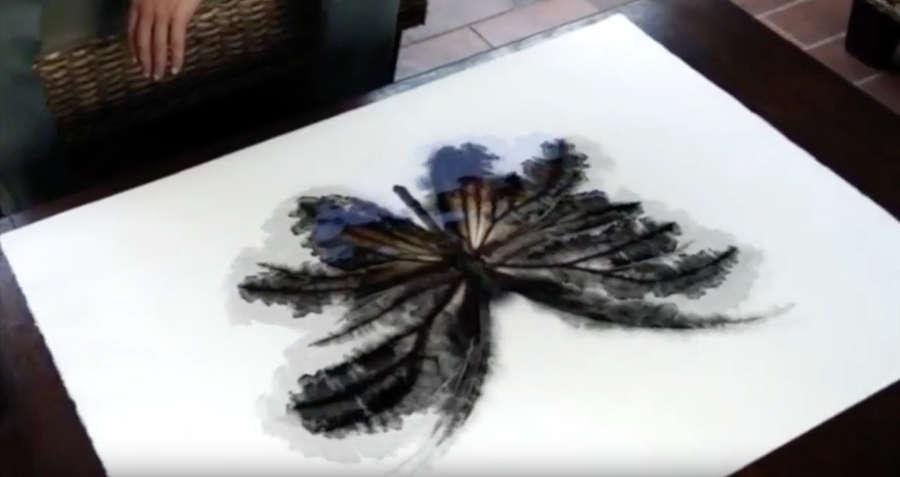experimentos con gotas de pintura