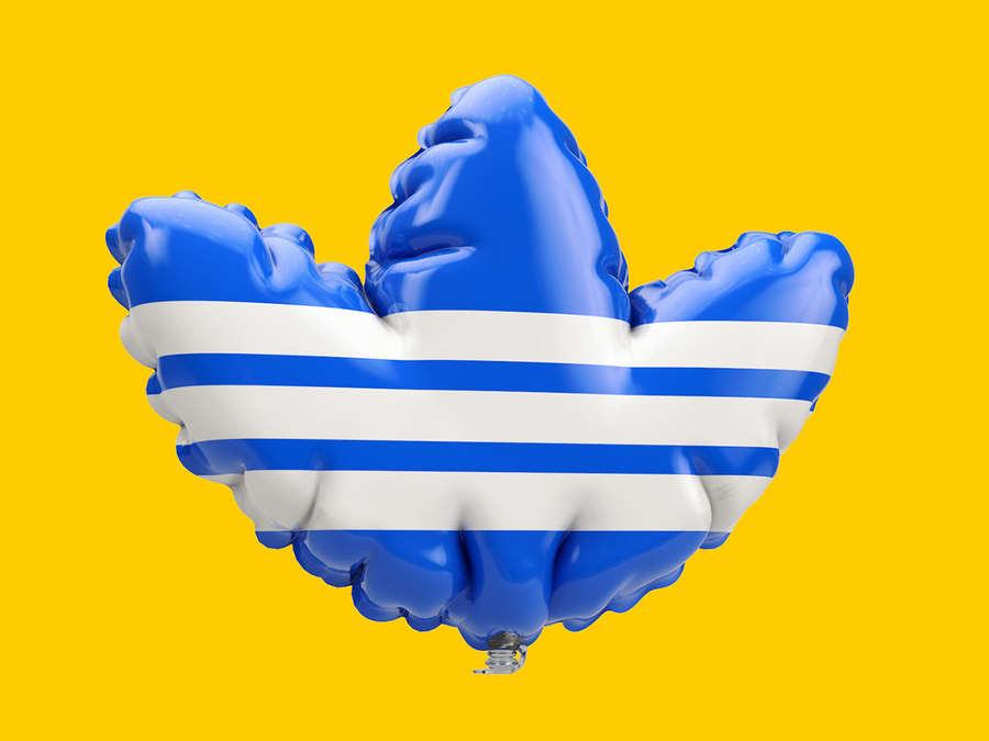 logotipos como globos de helio