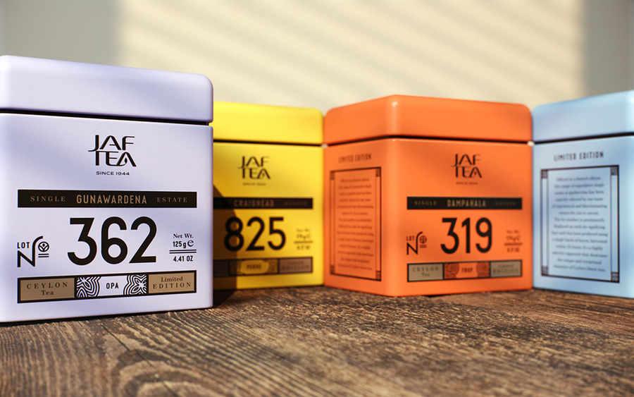 diseño en cajas de té
