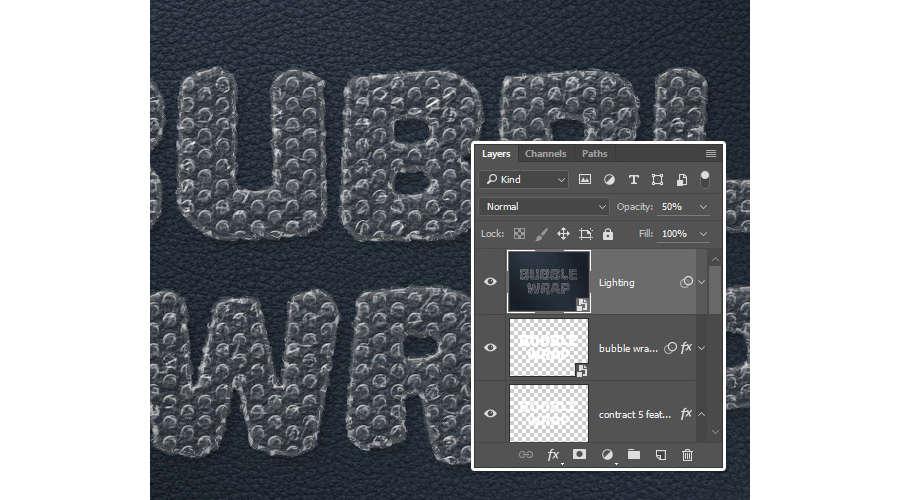efecto plástico con burbujas en Photoshop