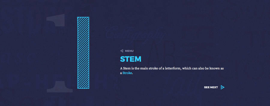 infografía con las partes de las letras