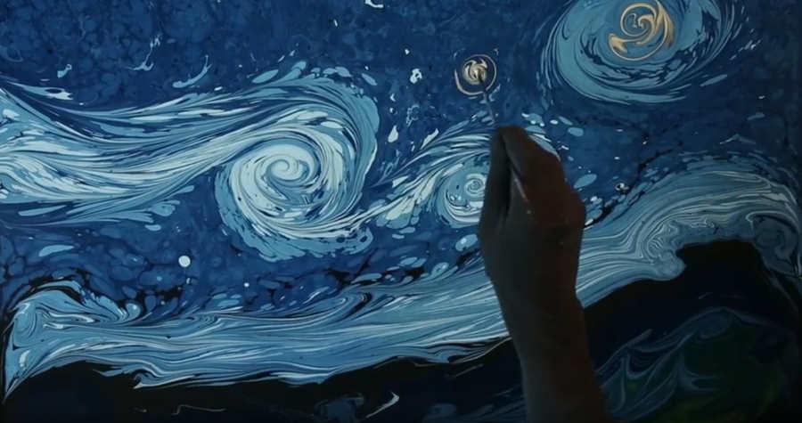pinturas sobre agua