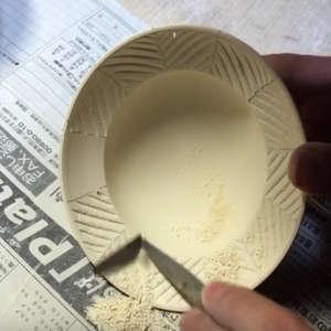 Talla en piezas de porcelana