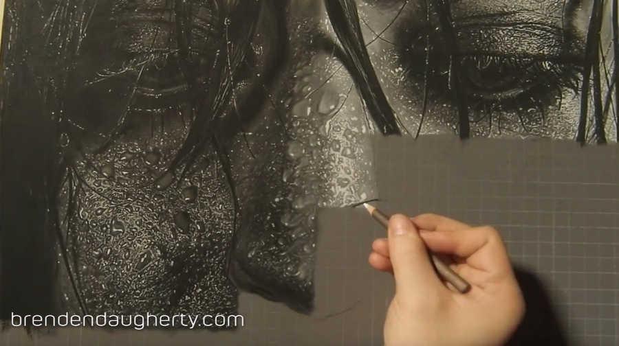 time lapse dibujo fotorrealista