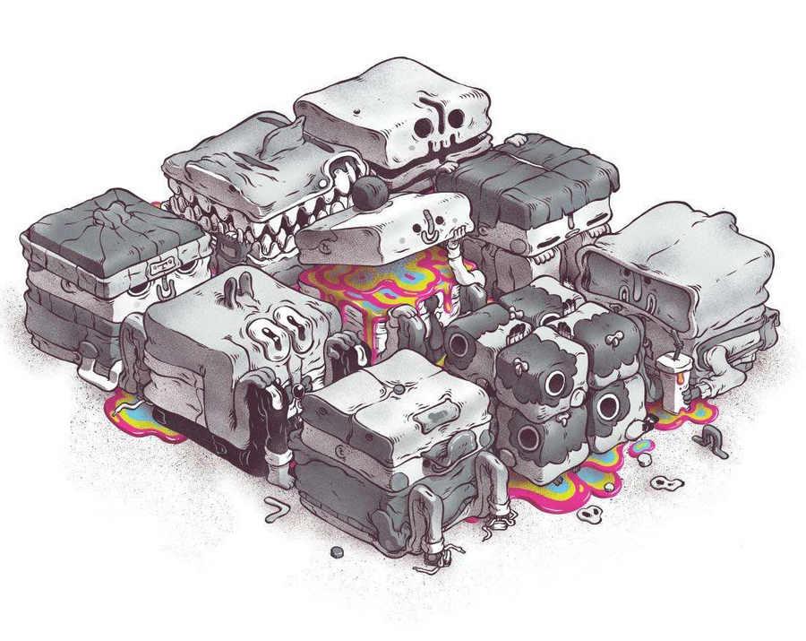 ilustraciones de T Wei