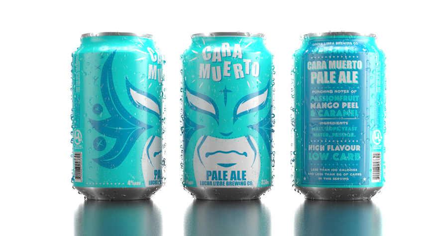 latas de cerveza lucha libre