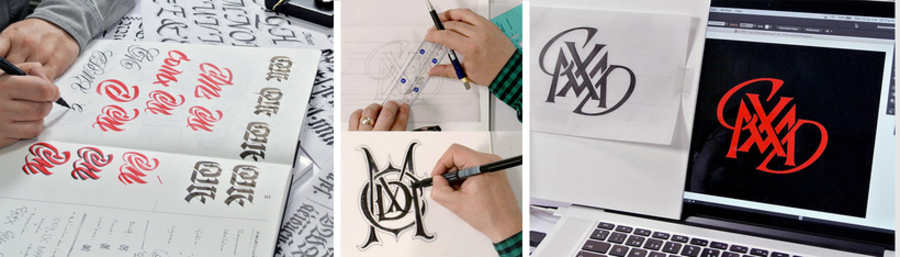 materiales para lettering tinta