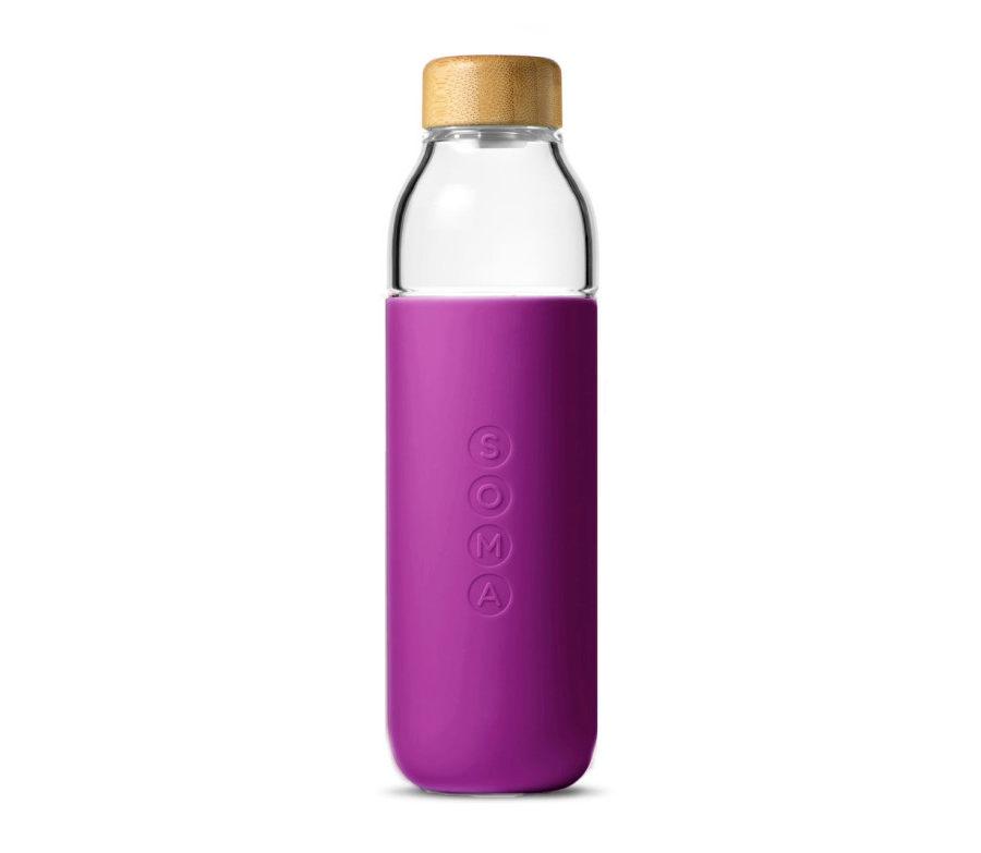 botella de vidrio elegante