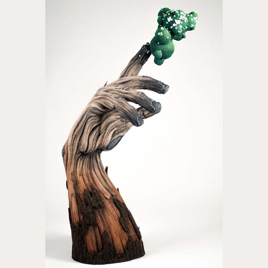 esculturas de imitación madera vieja