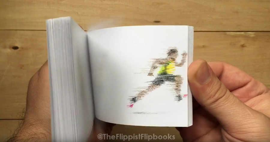 flip book de atletas olímpicos
