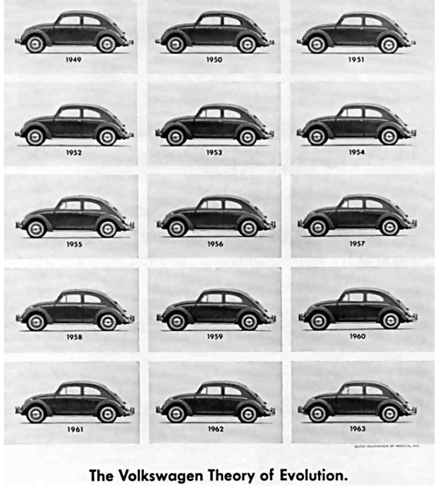 publicidad de Volkswagen años sesentas