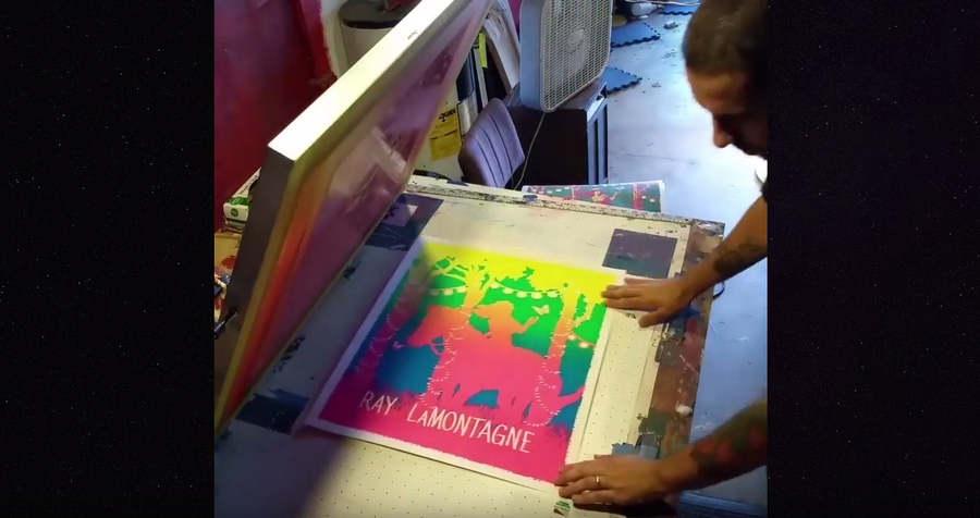 degradado de colores con serigrafía