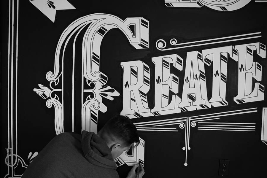 mural tipográfico