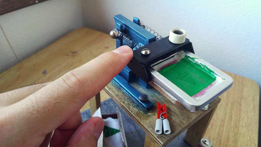 pulpo para serigrafía en miniatura