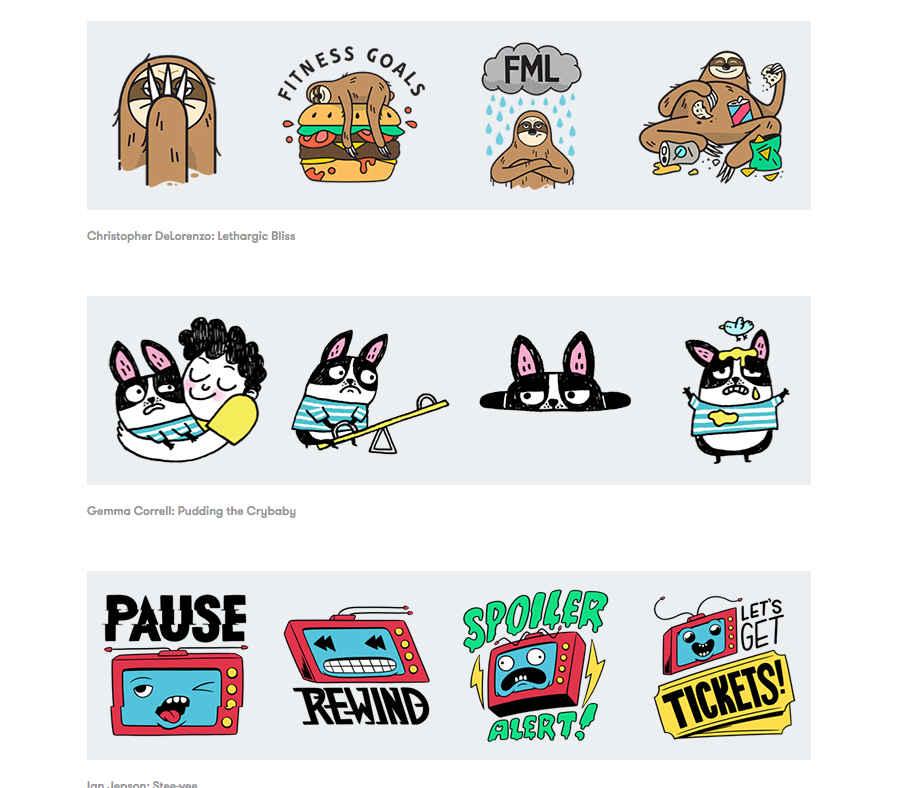 stickers de google allo