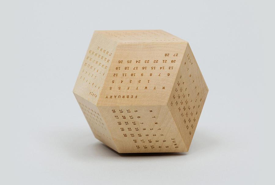 calendario 2017 de madera