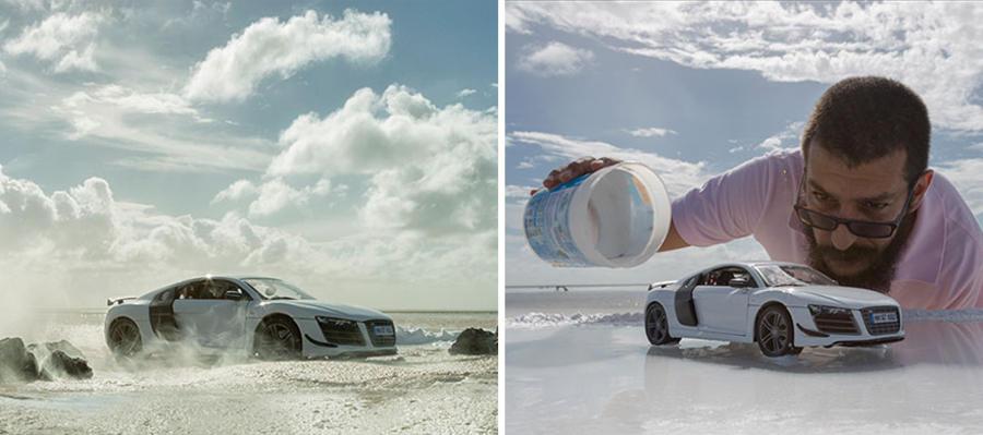 fotografías con modelos a escala