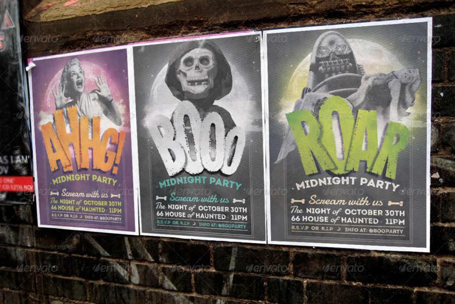 invitaciones para fiestas de halloween para editar
