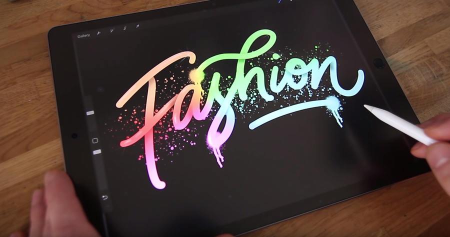 lettering en iPad Pro