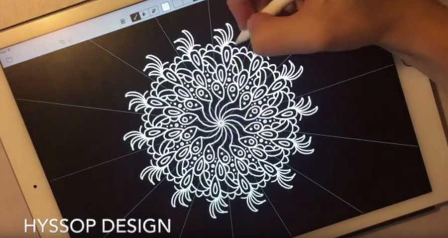 patrones geométricos en iPad Pro