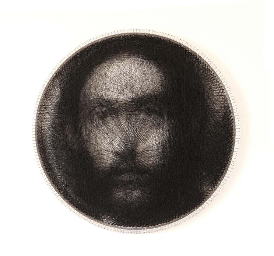 retratos hechos con hilo