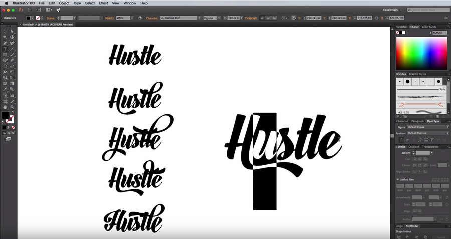 Tutorial Para Crear Un Diseño De Tipografía Personalizada En Illustrator