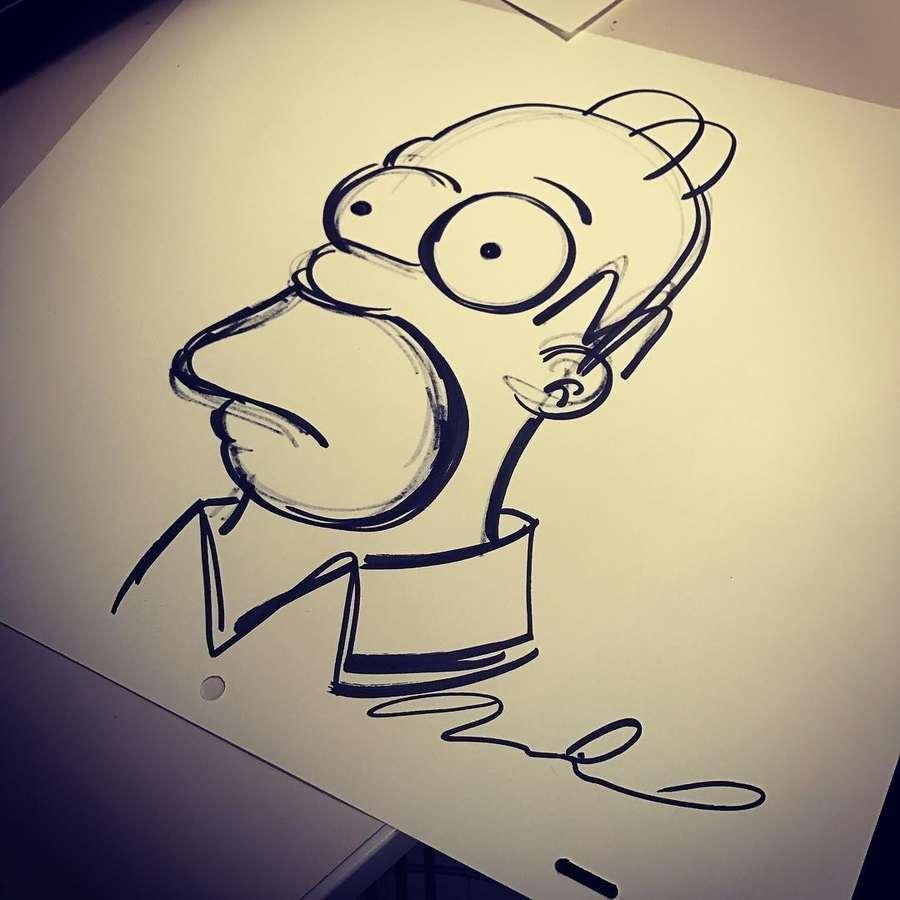 aprende a dibujar personajes de los Simpsons