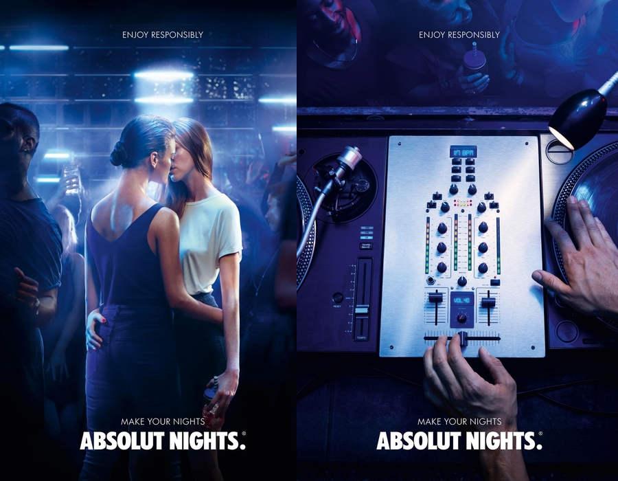 campaña de publicidad para Absolut Vodka