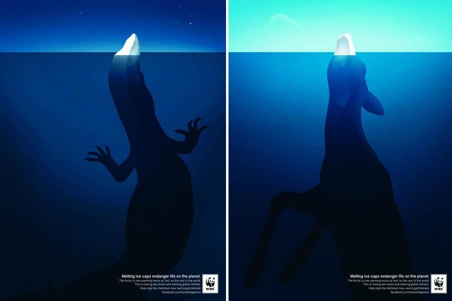 campaña de publicidad para WWF