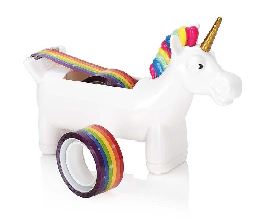 dispensador de cinta adhesiva de unicornio