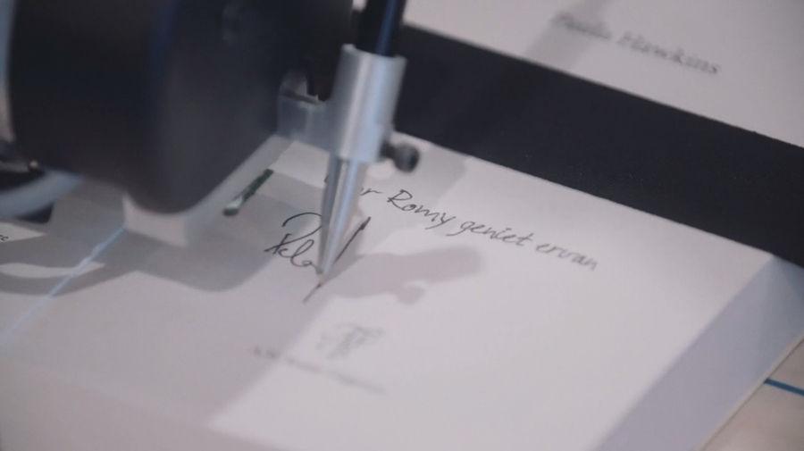réplica de autógrafos de escritores