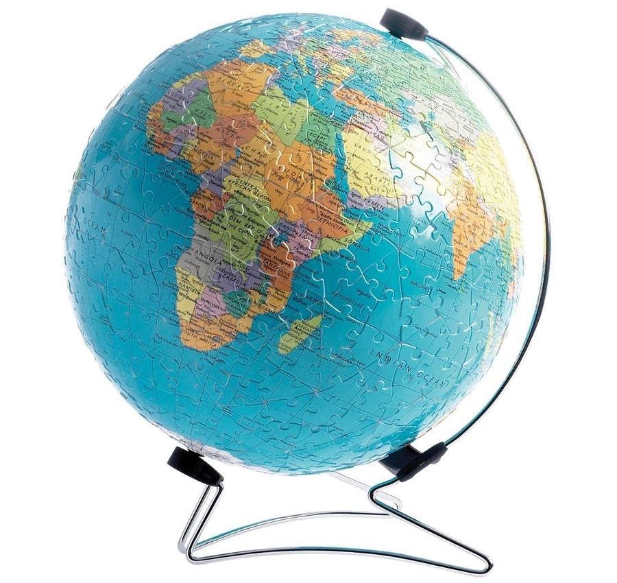 rompecabezas 3D de globo terráqueo
