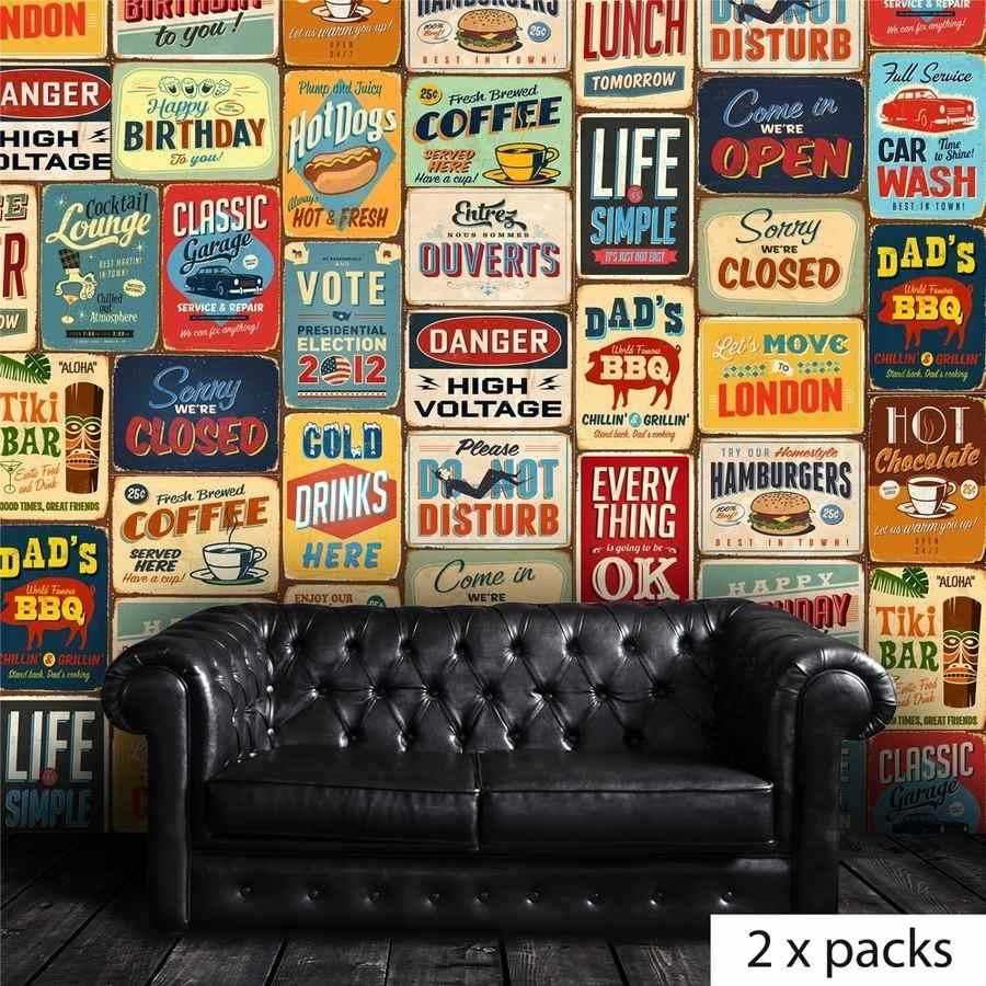 stickers letreros vintage