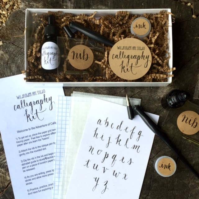 kit de caligrafía para principiantes