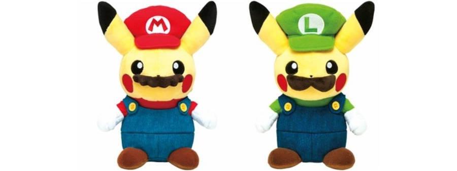 Pikachu Mario y Luigi