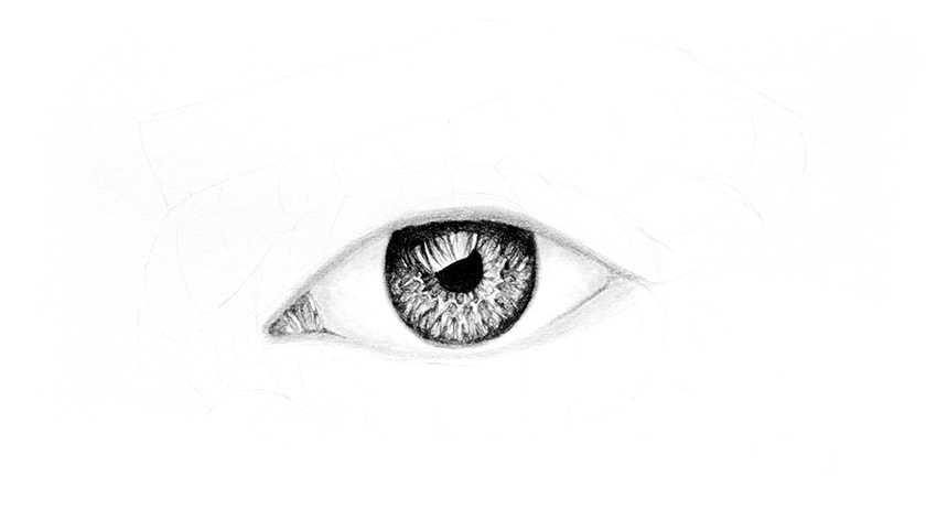 Cómo dibujar un ojo realista