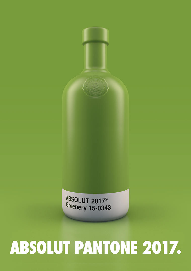 botellas Absolut Vodka Pantone