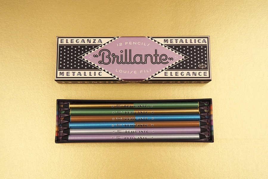 caja con colores metálicos