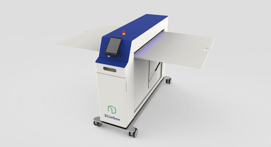 máquina para fabricar cajas