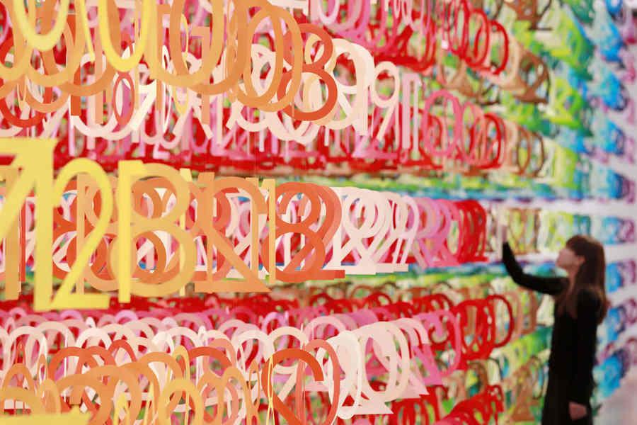 instalación con números