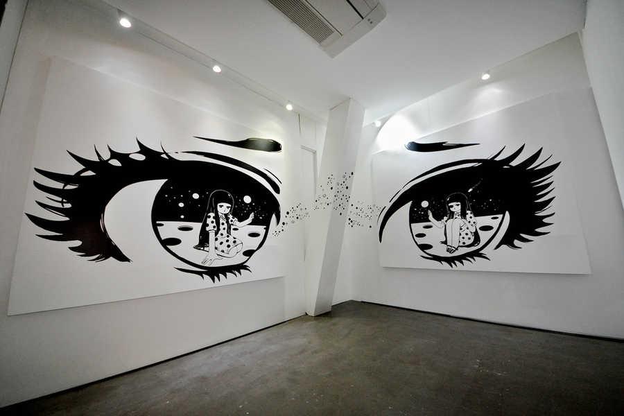 murales hechos de vinyl