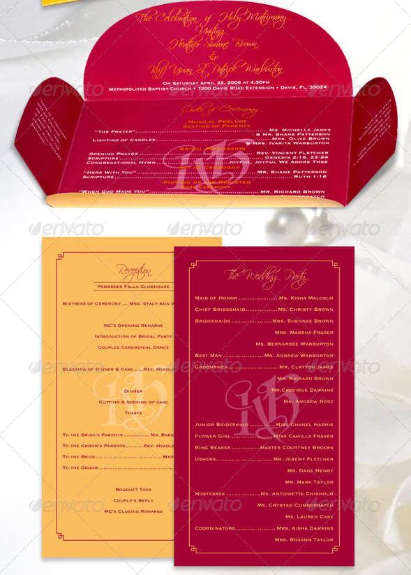 programas para ceremonias de bodas